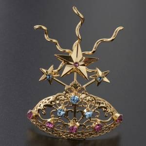 Diadema in ottone filigrana dorata s4