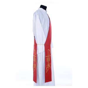 Priesterstolen: Diakon Stola rot und violett XP und Weizenähre