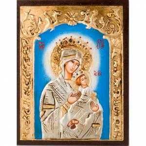 Handgemalte rumänische Ikonen: Rumänische Ikone Gottesmutter der Passion.