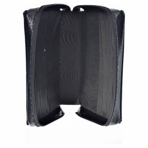 Divine office cover black bonded leather Our Lady of Kiko s3