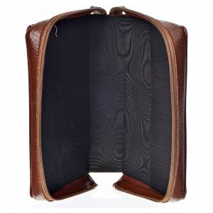 Divine Office covers: Divine office cover in brown bonded leather with image of Our Lady and Baby Jesus