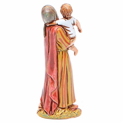 Donna con bimbo 6,5 cm Moranduzzo stile storico s2