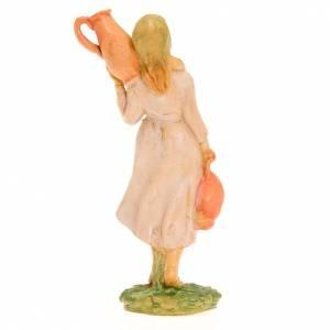 Donna con due anfore 10 cm s2