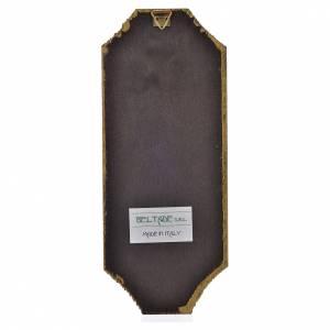 Bilder, Miniaturen, Drucke: Druck Barmherzigkeit auf Holz, 18,5x7,5cm