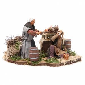 Drunkard and Woman with broom 14cm neapolitan animated Nativity s1