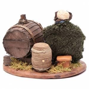 Drunkard with wooden cask, Neapolitan Nativity 10cm s4
