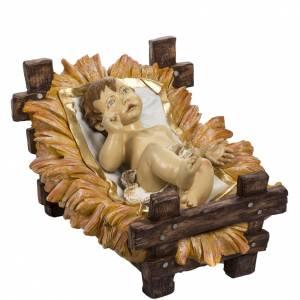 Figury do szopki: Dzieciątko Jezus 180 cm i kołyska żywica Fontanini
