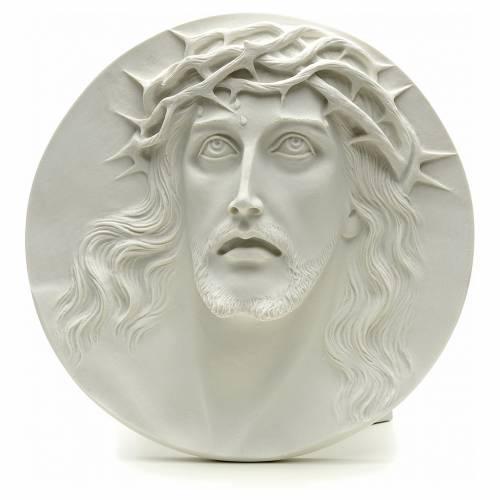 Ecce Homo redondo en relieve mármol sintético s1