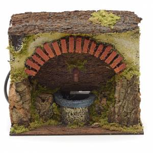 Electric nativity fountain with big arch 18x16x11cm s1