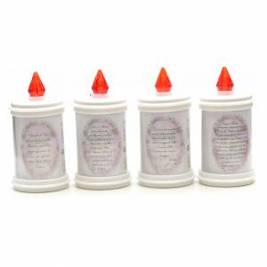 Votive candles: Electric votive candle, ecological in white PVC, lasting 90 days