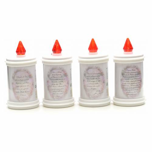 Electric votive candle, ecological in white PVC, lasting 90 days s2