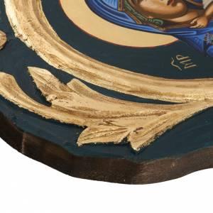 Eleusa Virgin, Greek icon, screenprinted and painted s5