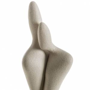 Embrassade statue stylisée grés cérame 34cm s2