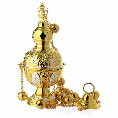 Encensoir style orthodoxe or et argent s1