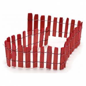 Enclos bois rouge pour crèche long. 40 cm s1