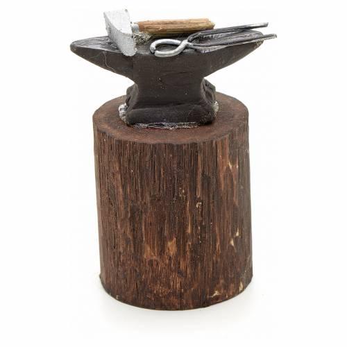 Enclume en miniature pour crèche Napolitaine 12 cm s1