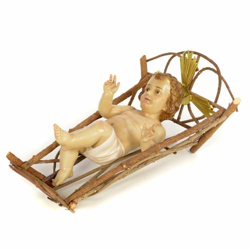 Enfant Jésus pour crèche de 160cm pâte à bois finition élé s2