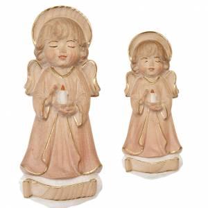 Schutzengel: Engel mit Kerze Rosa gekleidet