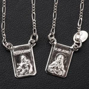 Escapularios: Escapulario plata 800 Virgen y Jesús