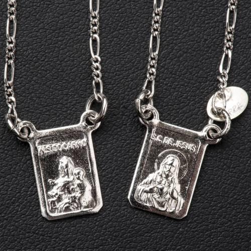 Escapulario plata 800 Virgen y Jesús s2