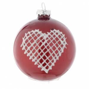 Esfera de vidrio con decoros 70 MM para árbol de navidad s2
