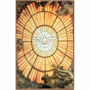 Estampa del Espíritu Santo en madera de apoyar s1
