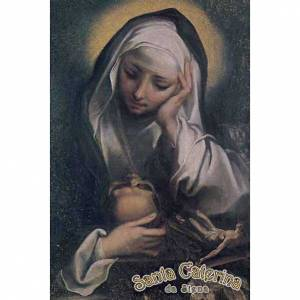 Cuadros, estampas y manuscritos iluminados: Estampa Santa Caterina orando