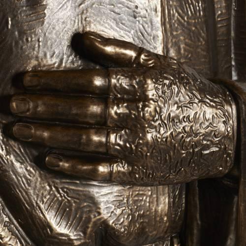 Estatua de San Pío pintada en color bronce 175cm s4
