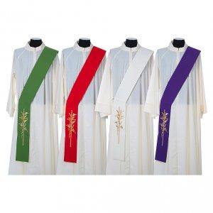 Etole diaconale croix épis 100% polyester s1