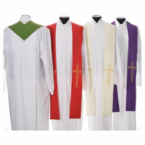 Etole liturgique 100% polyester croix s2