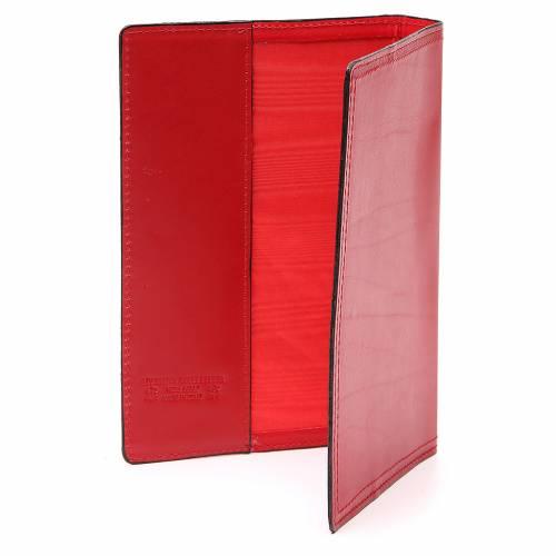 Farde pour rites A5 cuir véritable rouge s3