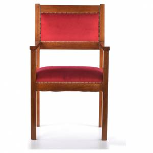 Fauteuil moderne noyer style Assise s1
