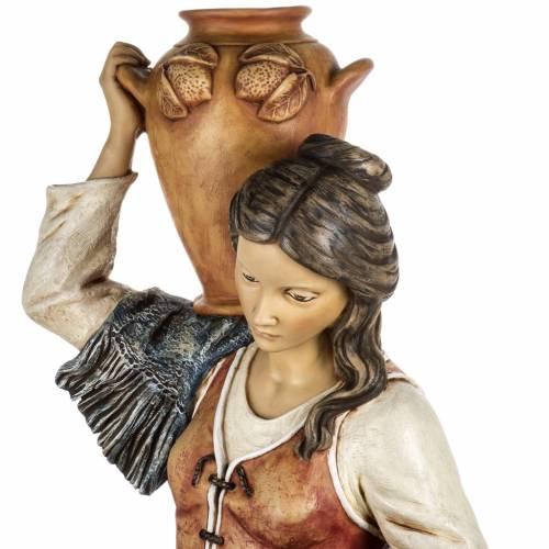 Femme avec amphore crèche Fontanini 125 cm résine s6