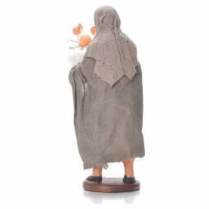 Femme et panier avec chatons 12 cm crèche napolitaine s2
