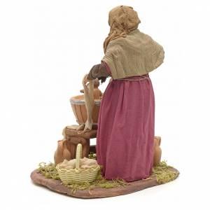 Femme qui lave son enfant 24 cm crèche Napolitaine s3