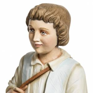 Fiberglas Statuen: Fiberglas Schäfer mit Schaf 60 cm