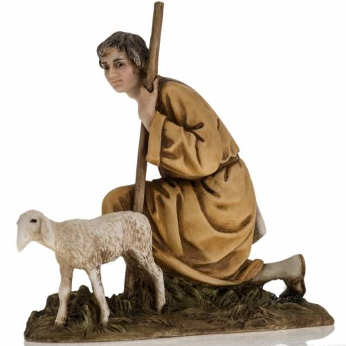 Figurines for Landi nativities, shepherd with lamb 18cm s2