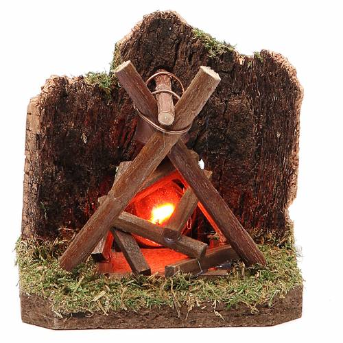 Fire for nativity for 10-12cm with light 230V s1