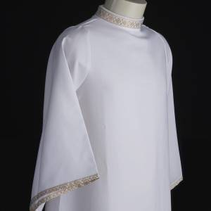 First Communion Albs: First communion alb for girl golden sleeves edge