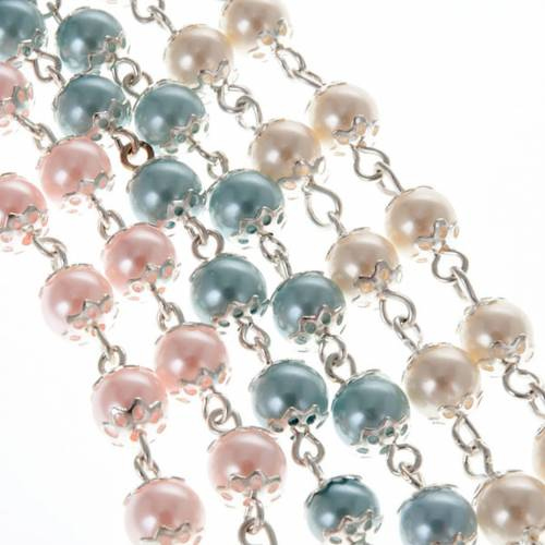 First Communion rosary with pearly beads (6 mm) s4