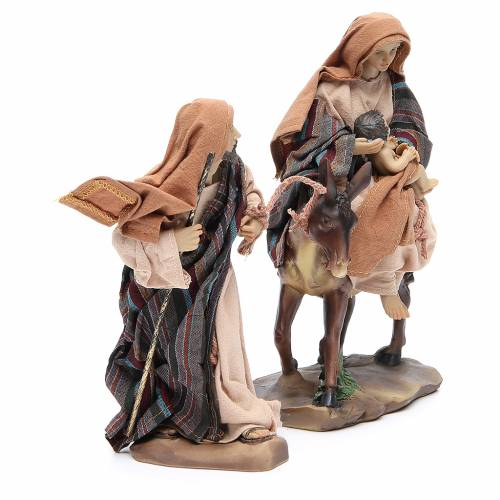 Flee from Egypt 24cm, 2 figurines with Brown Beige finish s2
