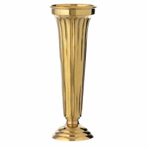 Funeral products: Flower vase chiseled brass 30cm