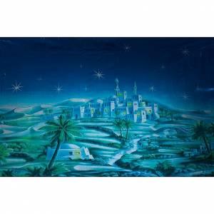 Sfondo presepe: borgo arabo notte s1