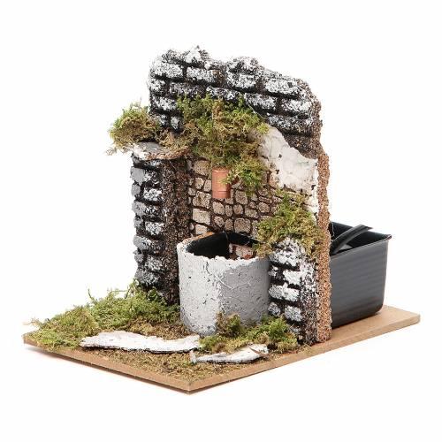 Fontaine crèche bois et liège 12x15x10 cm modèles assortis s2