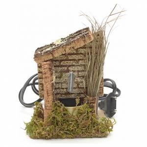 Fontaine crèche en bois liège 13x10x9 cm s1