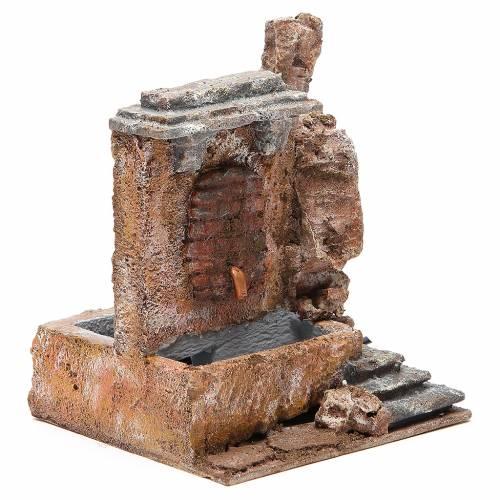 Fontaine électrique crèche rocher 18x16x16 cm s3