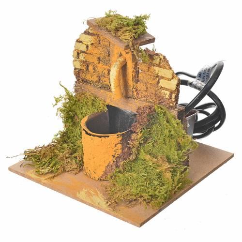 Fontaine en miniature bois et liège 13x13x13 s2