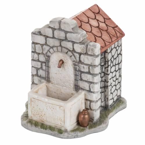 Fontana elettrica Fontanini mattoni villaggio cm 12 s1