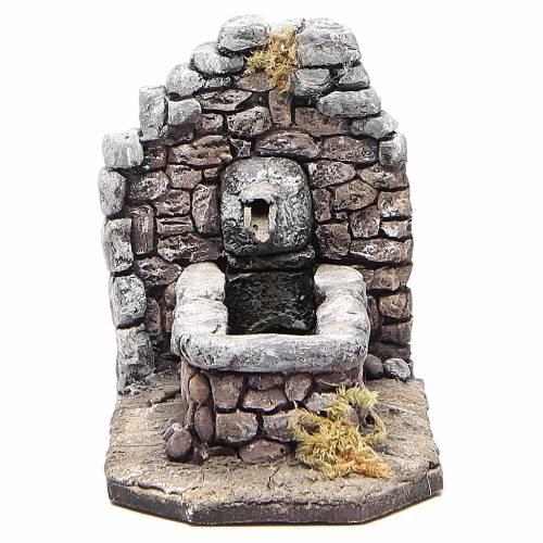 Fontana in resina tipo roccia per presepe 11x16x8 cm s1