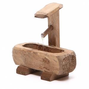Fontanella per presepe legno scuro 8x5x8 cm s2